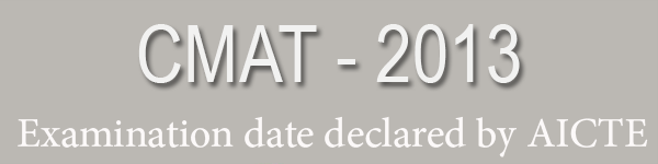 CMAT 2013 Registration date