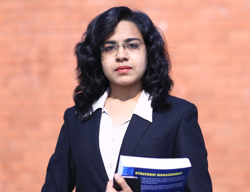 Harshita Student of Narayana Business School Ahmedabad Gujarat
